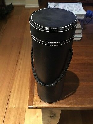 Wine Bottle Carrier, Stitched Leather Look