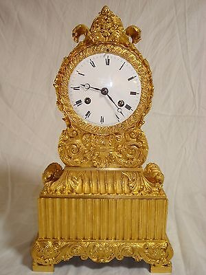 Gilt French Empire Bronze Clock from early 1800 in Superb condition