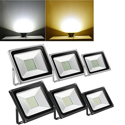 LED Floodlight 10/20/30/50/100W security garden outdoor warm /cool white IP 65