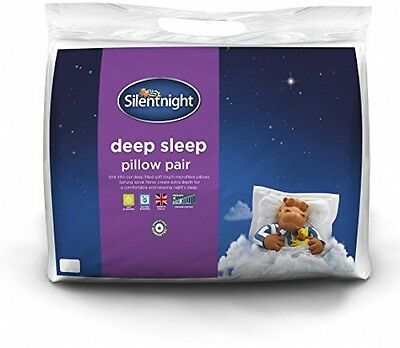 Silentnight Deep Sleep Pillow With Extra Hollowfibre Filling, Pack Of 2