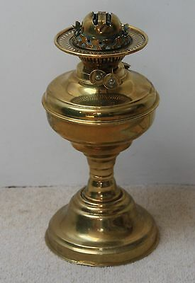 Vintage brass oil lamp, with shade if wanted