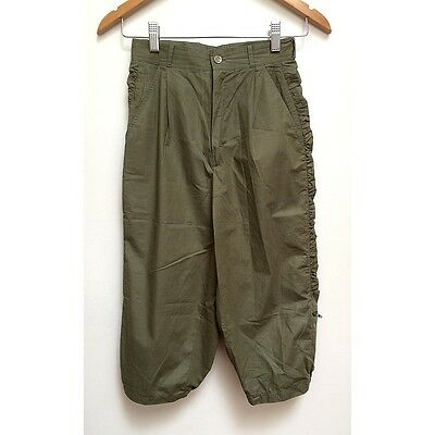 AS NEW Vintage Khaki Green Cropped Pants Peddle Pushers XS Exc Cond