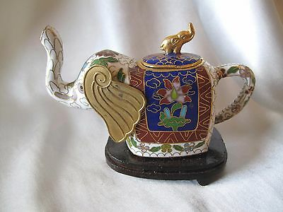 Cloisonne Small Elephant Tea Pot