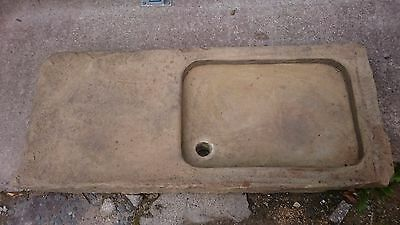 a very old yorkshire stone sink