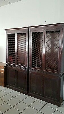2- 19th Century 2-Door Mahogany Bookcase