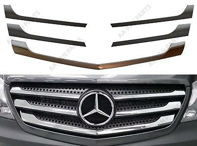 Mercedes Sprinter W906 Front Chrome Grill Strips Facelift Model 5pc 2013 Onwards