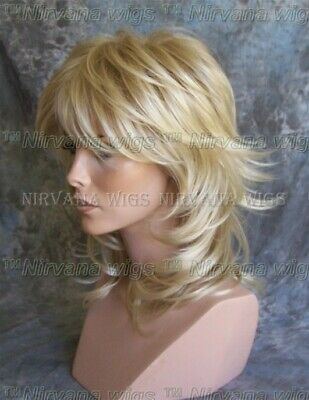 LARGE FIT  Medium/Long Layered Womans Nirvana Sarah Blonde or Brown Wig