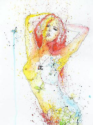Abstract Nude Female Multicolour Artwork Chanel Necklace Contemporary Art