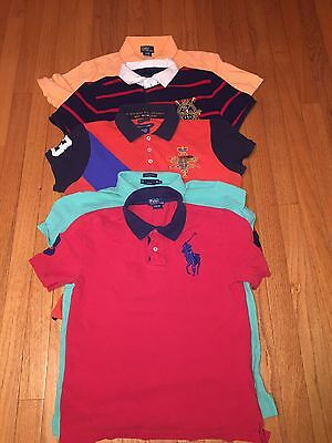 Lot Of 5 Boys Polo Ralph Lauren Size Qty 2 M Med (10-12) & Qty 3 L Large (14-16)