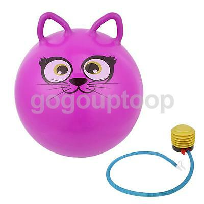 "18"" Cartoon Jump Bounce Space Hopper Ball Kids Outdoor Toy Inflatable Purple"