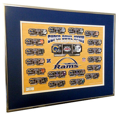 St. Louis Rams Super Bowl XXXIV Champions Framed Commemorative Print