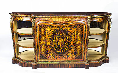 Antique Victorian Calamander Inlaid Credenza c.1850