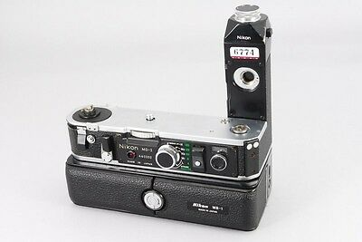 [EX+++++]  Nikon MD-2 Motor Drive + MB-1 Battery Pack for F2 from Japan #68341