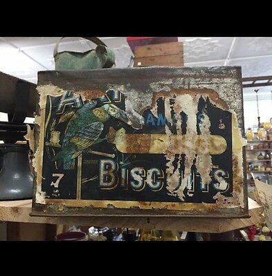 vintage Arnotts Famous Biscuit Tin Can Box 7lb metal