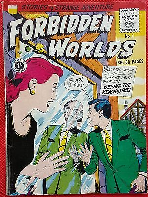 FORBIDDEN WORLDS 1 STRATO SILVER AGE 1959 Stories of Strange Adventure vf+