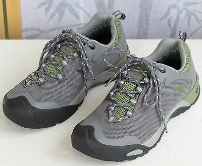 10 | Keen Dry S3 Women Gray Green Carbon Rubber Sole Hiking Athletic Boot Shoe