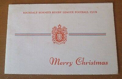 Rochdale Hornets Christmas Card, 1975.