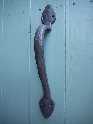Cast Iron Antique Push Pull Garden Gate Barn Shed Cupboard Door Handle 36cm