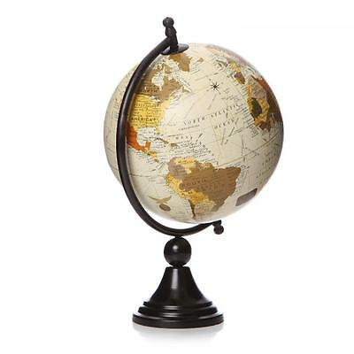 20cm World Globe Rotating Swivel Map of Earth Atlas Geography Vintage Mens Gift