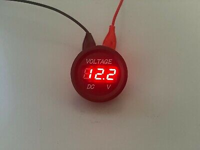 12V-24V Car Motorcycle LED Digital Display Voltmeter Waterproof Meter RED UK