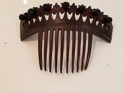 Victorian tortoise shell hair comb