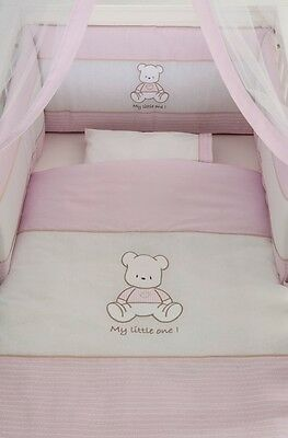 Baby Oliver cot bed quilt and bumper set with SWAROVSKI crystalls