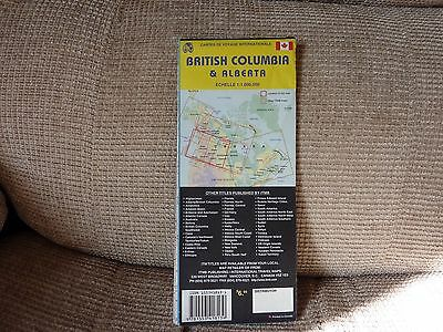 British Columbia & Alberta road & terrain map