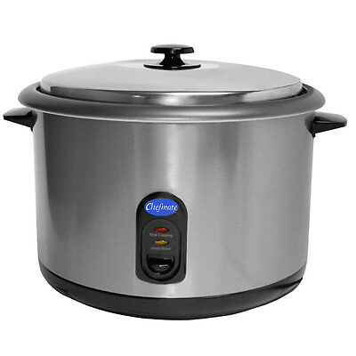 Globe RC1 Chefmate Rice Cooker, Countertop, Up to (25) 1-cup Servings