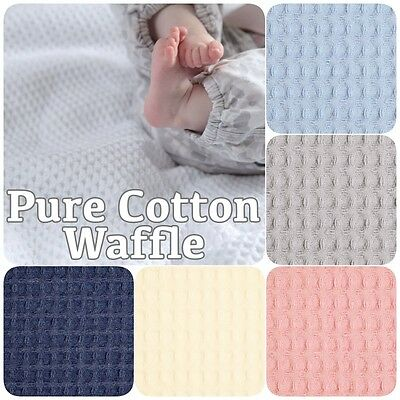 100% Cotton Soft Honeycomb Waffle Dressing Gown Baby Blanket Loungewear Fabric