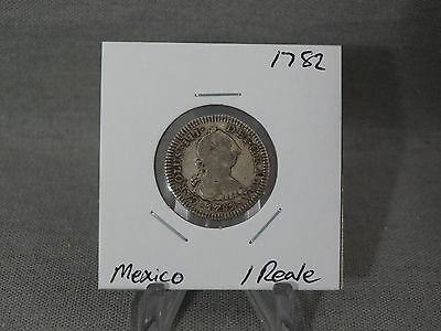 1782 Spain/mexico 1 Reale Coin Nice