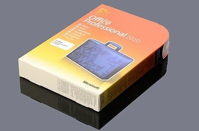 Microsoft Office 2010 Professional 32 & 64 bit F/ Retail Version + Product Key