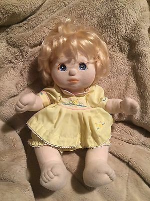 MY CHILD 1985 Bright Blond Hair with BLUE GRAY EYES In Original Ducky Dress