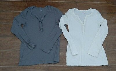 Bump in the Night Maternity Henley Thermal Size Medium Sleepwear Lot of 2