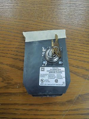 Square D MA1CL Cylinder Lock with 2 keys Used