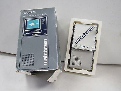 Retro Sony Watchman Portable TV Vintage FD-20A Case 1980's With Box    I963 H