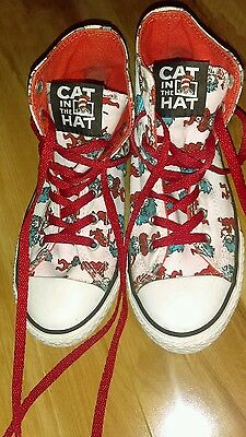 Converse All Star Dr. Seuss Thing 1 Thing 2 Size 4 Junior Chucks High Tops