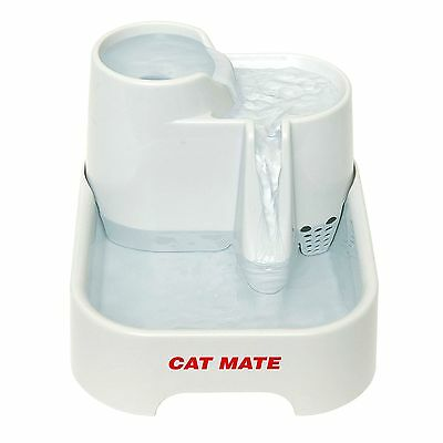 Cat Drinking Water Fountain Small Dogs Fresh Clean Bowl Filter Hydration Station
