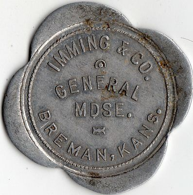 Breman Kansas Imming & Company General Mechandise Merchant Good For Trade Token
