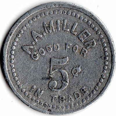 Jefferson Oregon A.a. Miller Merchant Good For Trade Token