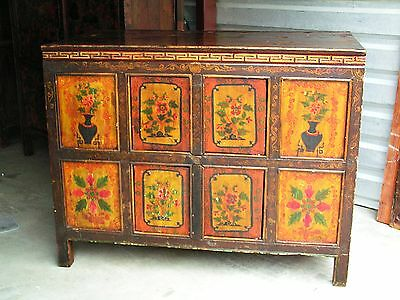 TIBETAN CABINET Chinese Furniture Asian Chest early 1900s 44x24x34