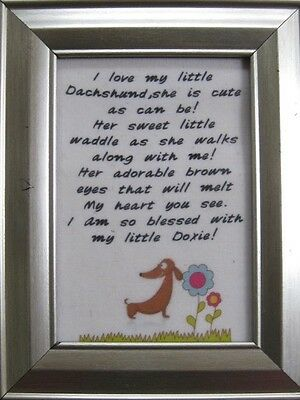Adorable Little Dachshund poem picture! CUTE!