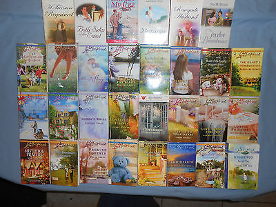 Love Inspired and Heartsong Romances,  lot of 30