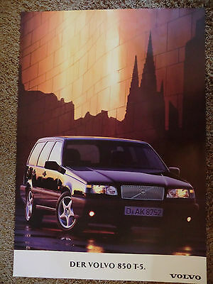 wonderful beauty-poster VOLVO 850 T-5 WAGON 1995 -  black - ltd.ed. - 70x100cm