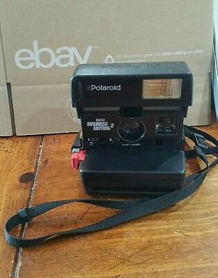Polaroid 600 Business Edition 2 Instant Film Camera Tested without film VINTAGE