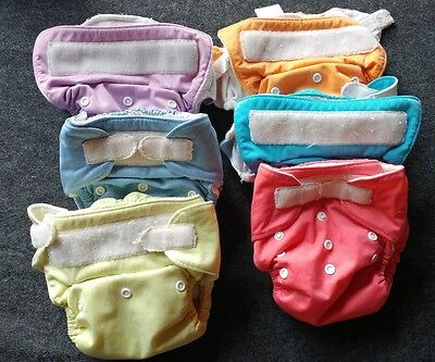 THIRSTIES Baby Reusable Washable Diapers Lot of Six (6) Size 2 (9-36 months)