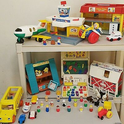 Vintage fisher price little people toy lot