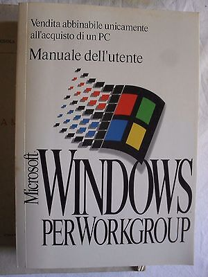 Microsoft Windows per Workgroup 3.11 manuale dell'utente 1993