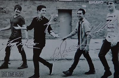 BIG TIME RUSH - Autogrammkarte - Signed Autograph Autogramm Sammlung Clippings
