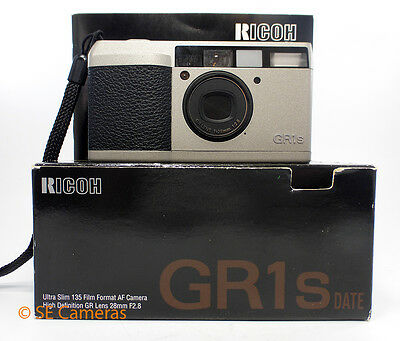 Ricoh Gr1S 35Mm Film Camera 28Mm F2.8 Lens Boxed Near Mint