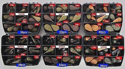 Box Carp Fishing Lead Weights Mixed Size And Colours